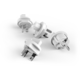 PowerCube REWIRABLE USB + Travel Plugs rozbočka 4 zásuvka, šedá
