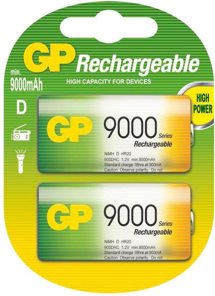 GP Rechargeable, nabíjecí HR20 9000 Ni-MH, 2ks
