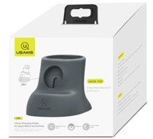 USAMS nabíjecí stojánek ZJ051 pro Apple Watch/Airpods, šedá - 2448395