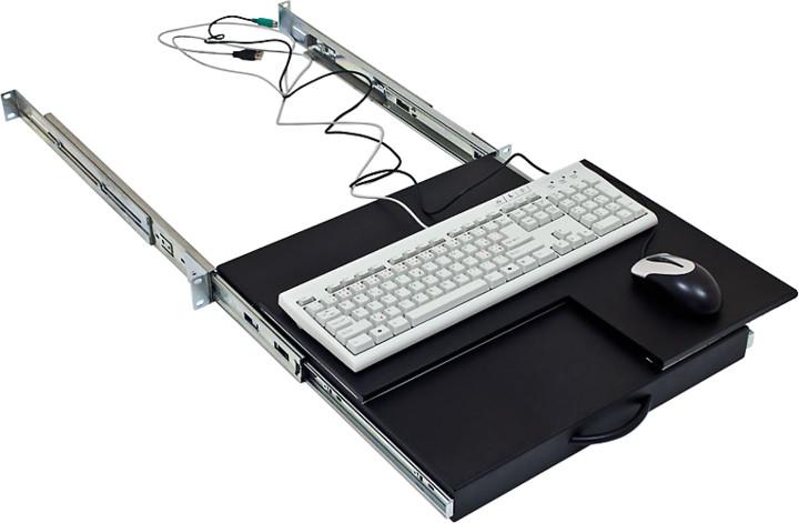 """Triton výsuvná police pro klávesnici a myš RAB-UP-X29-A1, 19"""""""