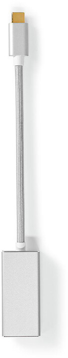 Nedis adaptér USB-C - Mini DisplayPort, stříbrná