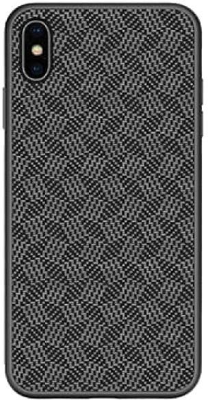 Nillkin Synthetic Fiber ochranný zadní kryt Plaid pro iPhone X/XS, černá