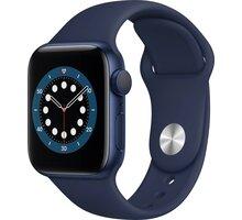 Apple Watch Series 6, 40mm, Blue, Deep Navy Sport Band S pojištěním od Mutumutu dostanete 5 000 Kč zpět - více ZDE