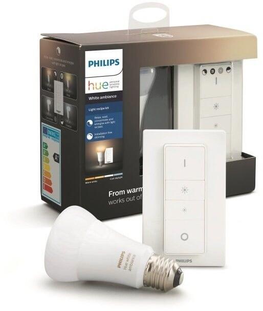 Philips žárovka Hue E27, LED, 8.5W + dimmer switch - 2. generace s BT