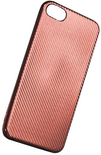 Forever silikonové (TPU) pouzdro pro Apple iPhone 7 PLUS, carbon/růžová/zlatá