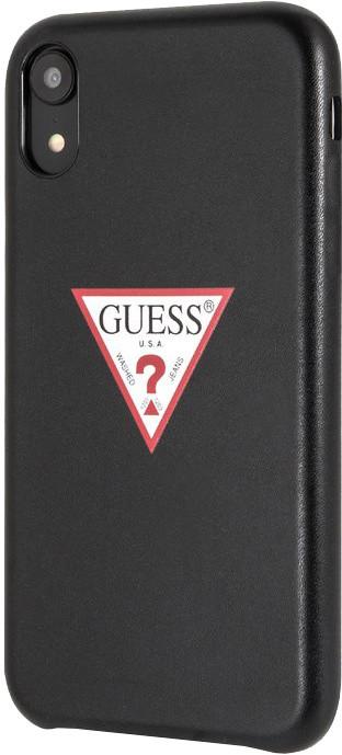 GUESS PU Leather Case Triangle pro iPhone XR, černá
