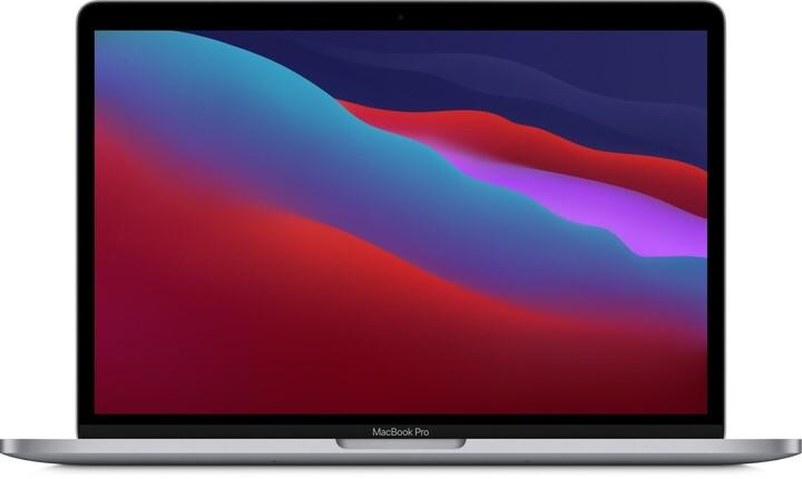 Apple MacBook Pro 13 (Touch Bar), M1, 8GB, 256GB, 8-core GPU, vesmírně šedá (M1, 2020)