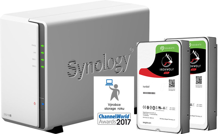 Synology DiskStation DS218j (2x3TB)