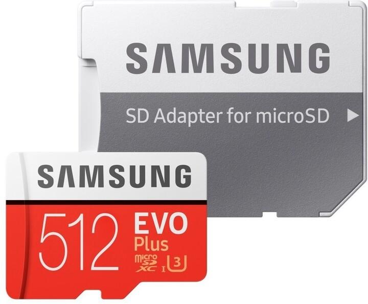Samsung EVO Plus Micro SDXC 512 GB UHS-I U3 + adaptér