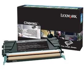 Lexmark C746H1KG, černá, return