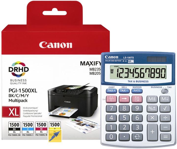 Canon PGI-1500XL Bk/C/M/Y multipack + kalkulačka LS-100T