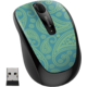 Microsoft Mobile Mouse 3500 LE Aqua Paisley