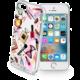 Cellularline STYLE průhledné gelové pouzdro pro Apple iPhone 5/5S/SE, motiv GLAM