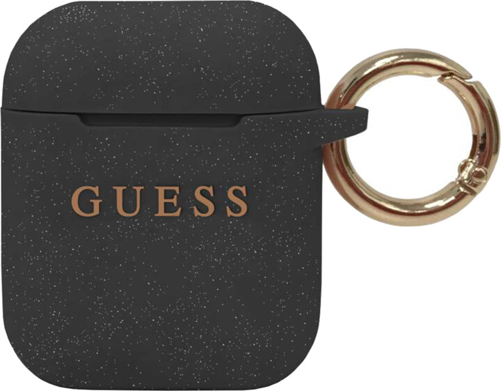 Guess silikonový kryt pro Apple Airpods, černá