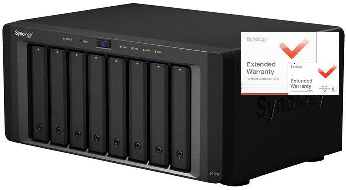 Synology DS1817 DiskStation + rozšířená záruka 5 let