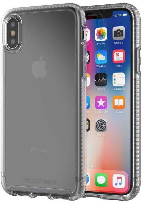 Tech21 Pure Clear Case for iPhone X, čirá