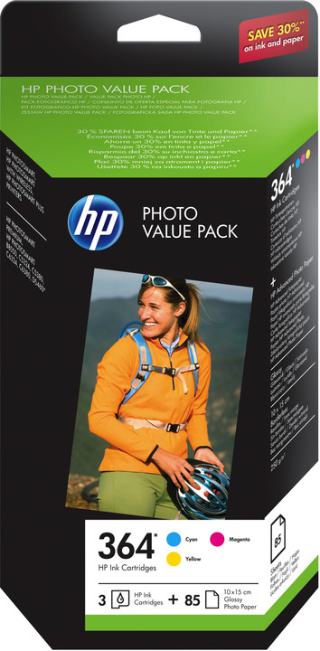 HP CH082EE, photo value pack, č. 364 + 85 listů Glossy 10x15