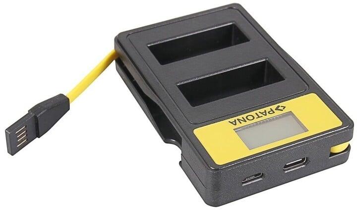 Patona nabíječka Dual Olympus PS-BLS1 s LCD, USB