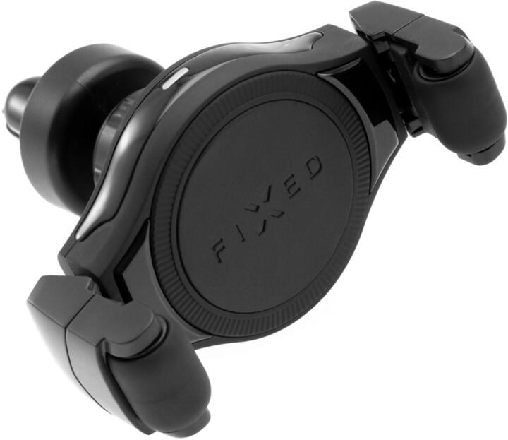 FIXED univerzální držák Roll s bezdrátovým nabíjením, do mřížky ventilace, černá