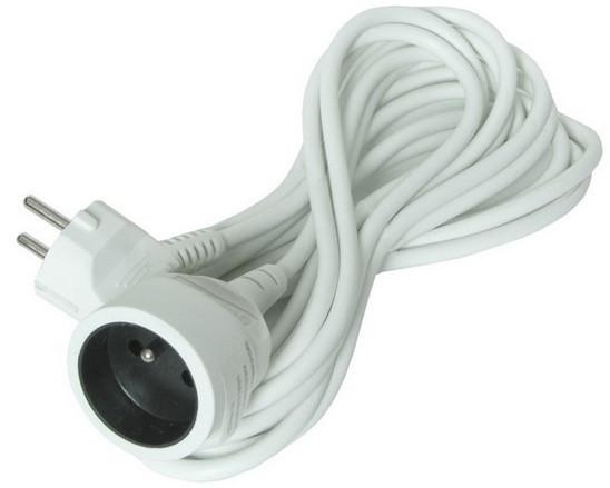 Solight prodlužovací kabel - spojka, 1 zásuvka, 5m, bílá