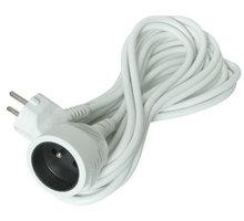 Solight prodlužovací kabel - spojka, 1 zásuvka, 5m, bílá - PS04