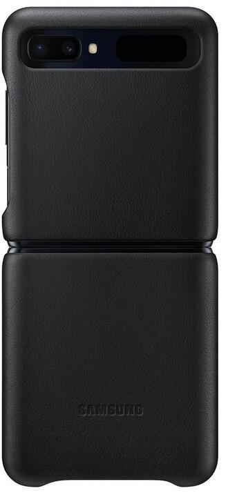 Samsung ochranný kryt Leather Cover pro Samsung Galaxy Z Flip, černý