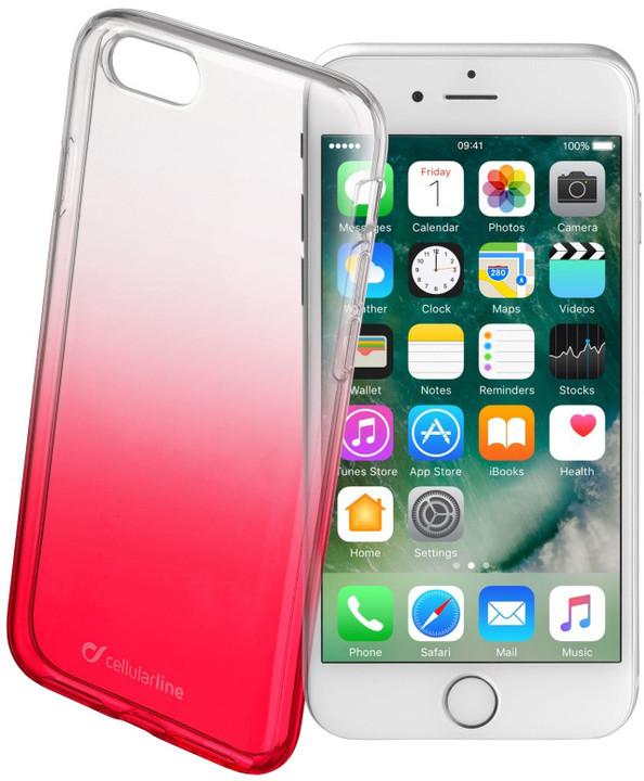CellularLine SHADOW zadní kryt pro Apple iPhone 7, TPU, červená