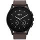 Vector SmartWatch Luna-Brushed Black/Dark Brown Leather/SmL Fit