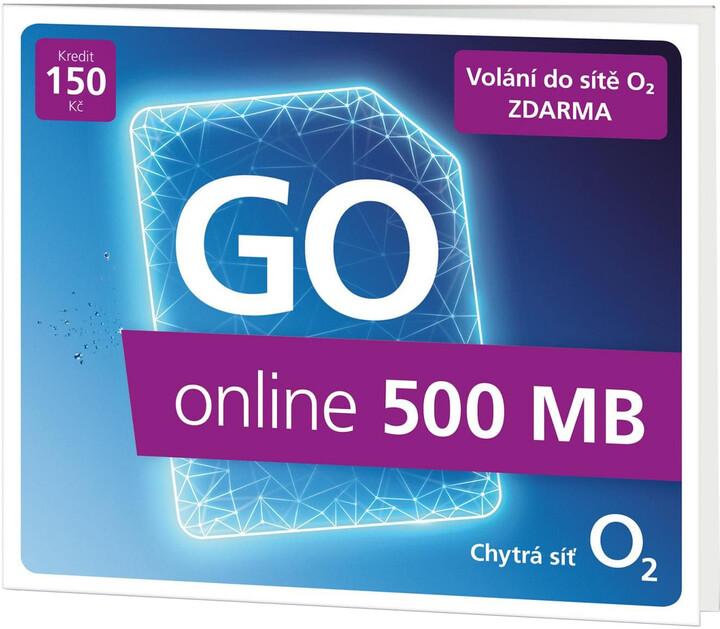 SIM karta O2 Předplacená karta GO online 500 MB