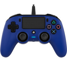 Nacon Wired Compact Controller, modrý (PS4)