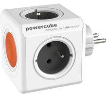 PowerCube ORIGINAL REMOTE multifunkční zásuvkový systém 4x zásuvka, šedá/oranžová
