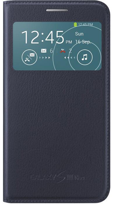 Samsung S-view EF-CI930BL pro Galaxy S III Neo (i9301), modrá indigo