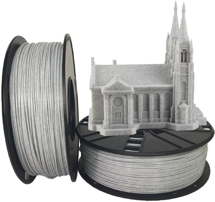 Gembird tisková struna (filament), PLA, 1,75mm, 1kg, mramor