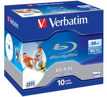 Verbatim BD-R DL, 6x, 50GB, 10 Pack, Printable (43736)