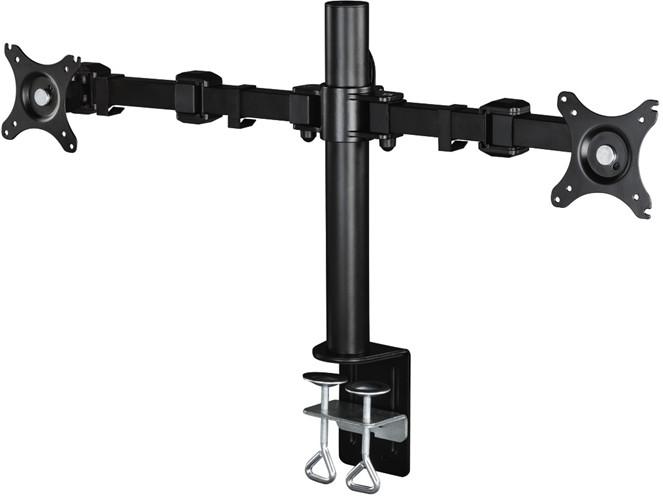 Hama stolní držák monitoru dvojitý, pohyblivý, 2x3 klouby