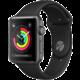 Apple Watch Series 3 38mm vesmírně šedý hliník s černým sportovním řemínkem