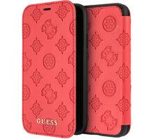 Guess pouzdro Debossed Peony Book pro iPhone XR, červená 2444397