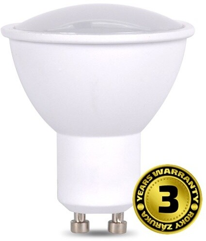 Solight žárovka, bodová, LED, 5W, GU10, 6000K, 425lm, bílá