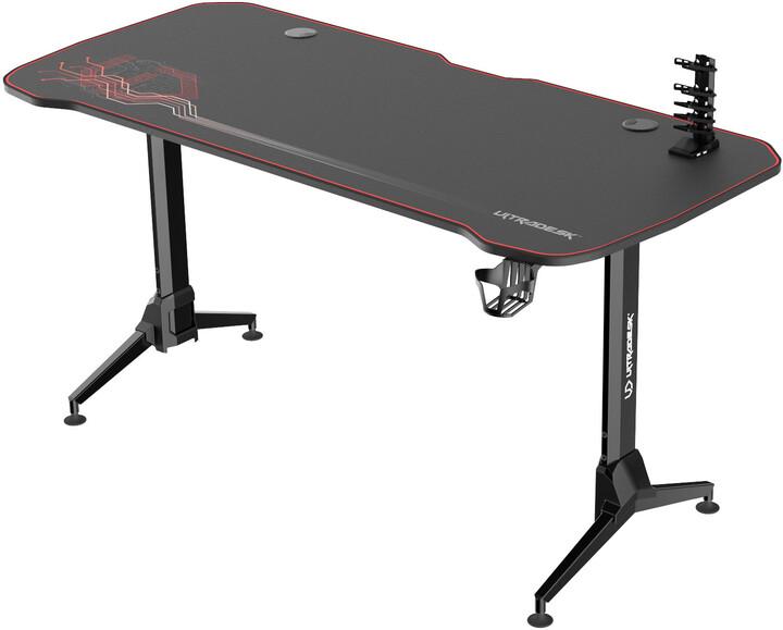Ultradesk Grand, černý/červený