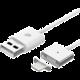 WSKEN Lightning magnetický nabíjecí/datový kabel, jedna koncovka, 1m, kov/plast, stříbrná