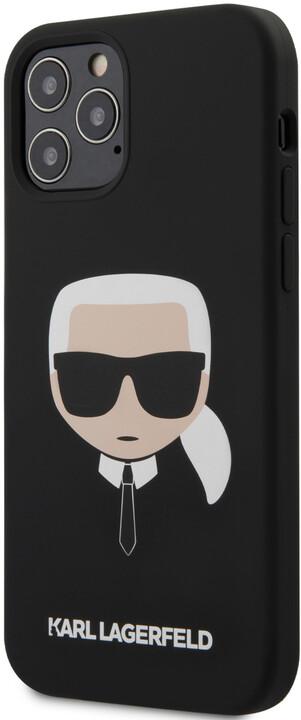 """KARL LAGERFELD silikonový kryt Head pro iPhone 12/ 12 Pro (6.1""""), černá"""