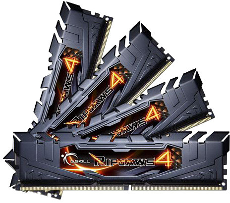 G.SKill Ripjaws4 32GB (4x8GB) DDR4 2400, CL15, black