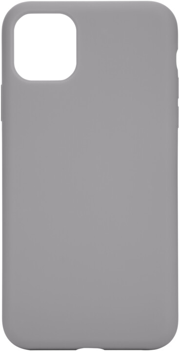 Tactical silikonový kryt Velvet Smoothie pro Apple iPhone 11 Pro Max, šedá