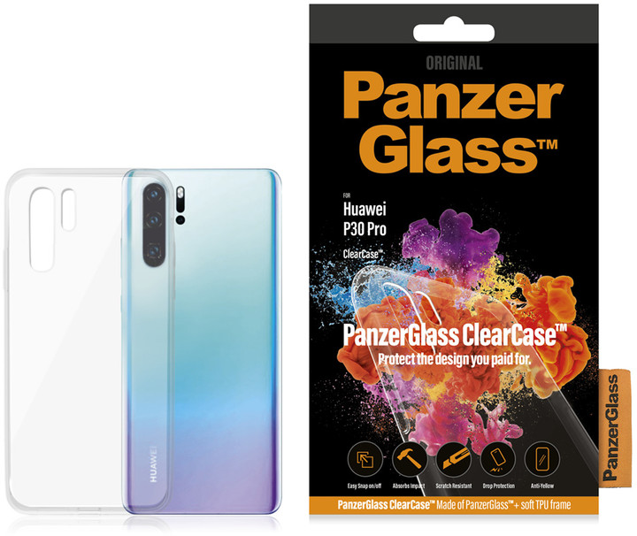 PanzerGlass ClearCase skleněný kryt pro Huawei P30 Pro, čirá