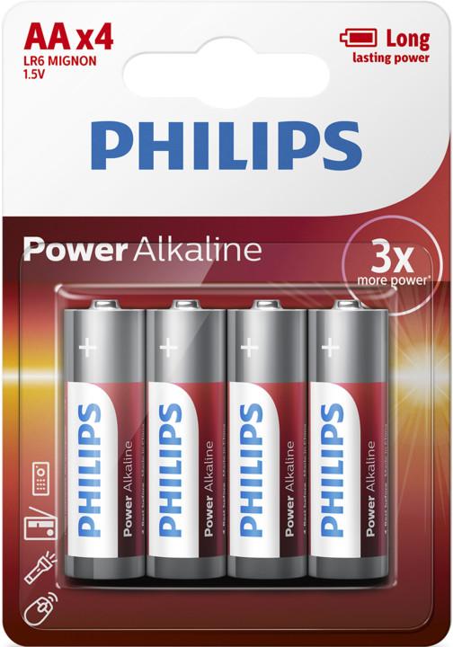 Philips AA PowerLife, alkalická - 4ks