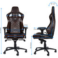 Noblechairs EPIC Real Leather, hnědá/béžová