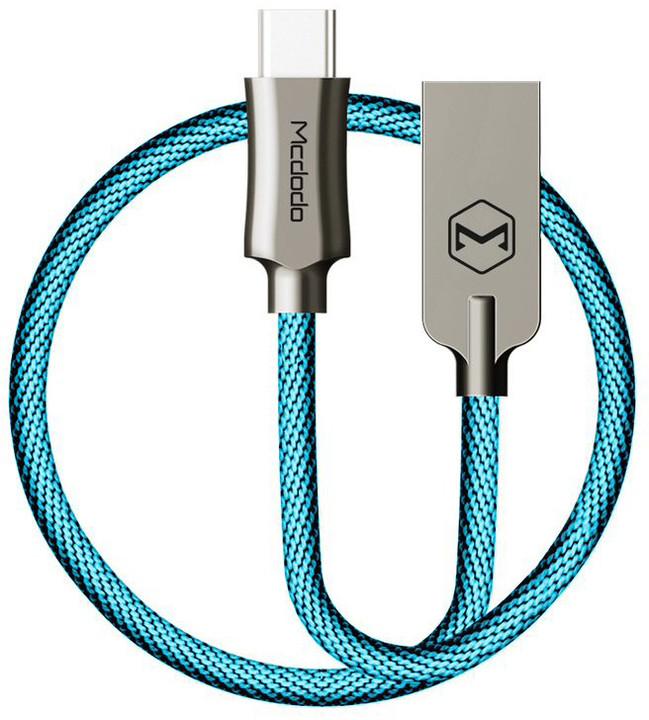 Mcdodo Knight datový kabel USB-C, 1m, modrá