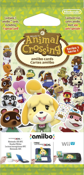 Animal Crossing: Happy Home Designer - balíček karet (3DS)