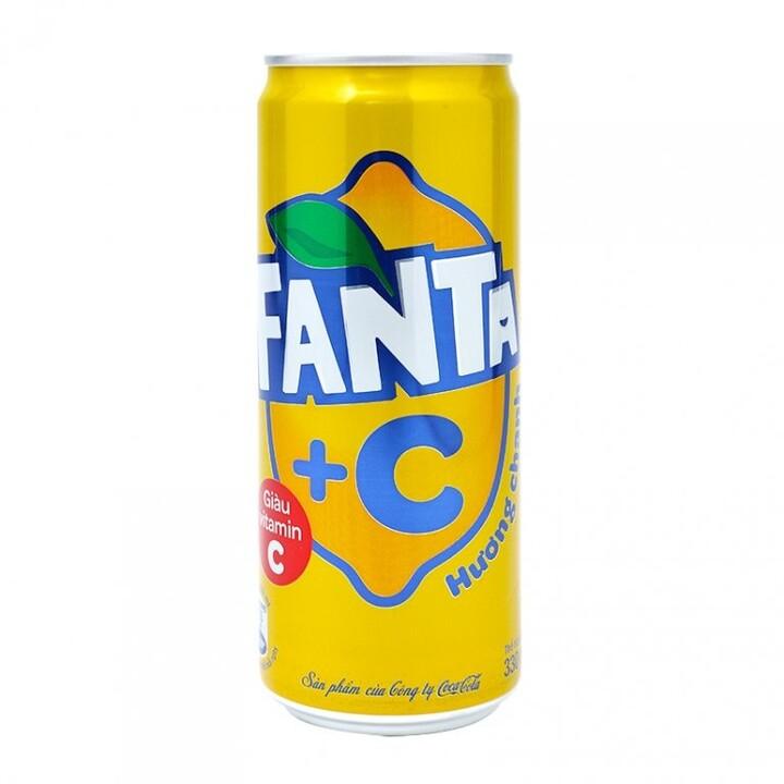 Fanta Lemon C, limonáda, citron, 330 ml