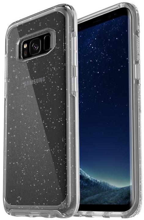 Otterbox plastové ochranné pouzdro pro Samsung S8 - průhledné se stříbrnými tečkami